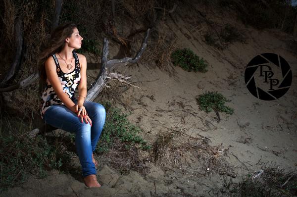Alessia al mare